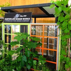 Home & Garden. Greenhouse made from repurposed windows- design and build by Larry Santoyo, EarthFlow designs