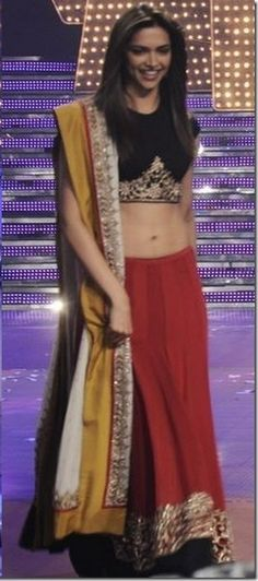 Deepika Padukone in Anand Kabra. Love the colour combination...