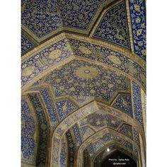 Beautiful tiling in mosques of Isfahan.#aksiine