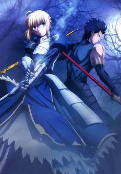 Fate/Zero: Lancer and Saber by SSJRaging.deviantart.com on @DeviantArt