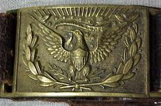 CIVIL WAR CONFEDERATE OR US CAVALRY INDIAN WAR BRASS BELT BUCKLE HARDEE EAGLE
