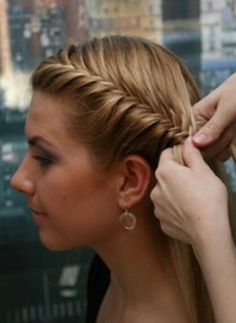 Cute way to put ur hair up. You can also showcase Fab earrings.