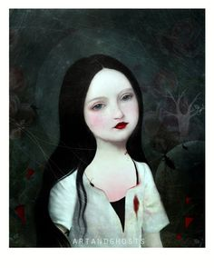 Carmilla++Digital+Painting+Print+by+littleghost+on+Etsy,+$17.00