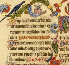 Pierwsze znane wizerunki mistrza Yody i Gandalfa Szarego palącego fajkę znajdują się w Psałterzu floriańskim.  Biblioteka Narodowa, Rps 8002 III, fol. 28v: polona.pl/item/285246/61/