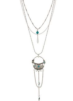 Stephan & Co Layered Pendant Necklace