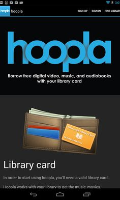 32 Best Hoopla images in 2016   Library card, Digital