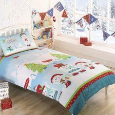 Snowmen Christmas Duvet Cover - Cot Bed, single & double