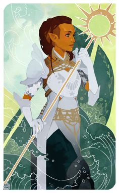 Keezy - Patreon - INPRNT Commission for Inquisitor Adare Lavellan! I don't know why I never did tarot cards before, but I LOVE them. If you want to commission me you can email me at. Dragon Age Inquisition, Character Concept, Character Art, Character Design, Dnd Characters, Fantasy Characters, High Fantasy, Fantasy Art, Dragon Age Tarot Cards