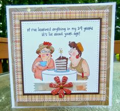 Art Impressions: Ai Girlfriends ... Out to Lunch Set of 4 (Sku#3576) handmade birthday card.