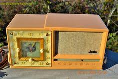 BEAUTIFUL Sandy Tan Retro Space Age 1956 Arvin Tube AM Clock Radio Works! by RetroRadioFarm on Etsy https://www.etsy.com/listing/217702209/beautiful-sandy-tan-retro-space-age-1956