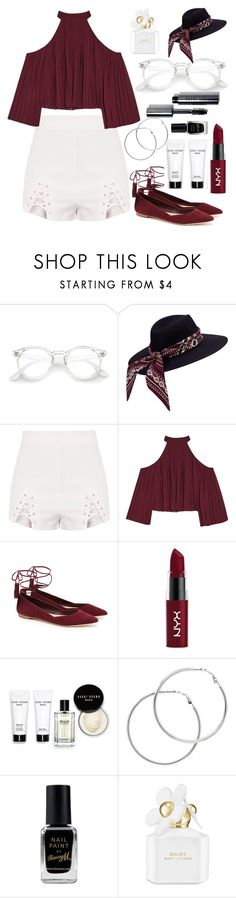 """""""Untitled #84"""" by esvoll ❤ liked on Polyvore featuring W118 by Walter Baker, Loeffler Randall, NYX, Bobbi Brown Cosmetics, Melissa Odabash, Barry M and Marc Jacobs"""