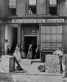 .Women volunteers worked throughout the Civil War