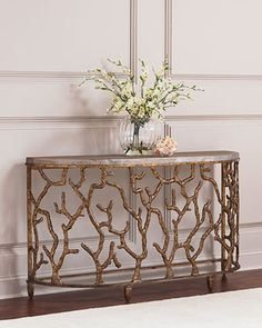 Atlantic Golden Console Table by Hooker Furniture at Horchow.