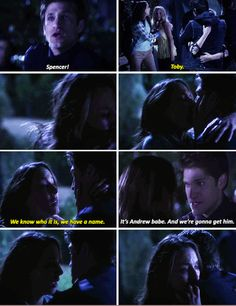 """THIS MOMENT WAS SO GOOD KNOWING THAT SPOBY WERE OK AND SEEING SPENCER KISS TOBY WAS JUST SUCH A GOOD FEELING. I CANNOT POSSIBLY EXPRESS HOW HAPPY THIS ONE MOMENT IN TIME FILLED ME WITH SO MUCH HAPPINESS BECAUSE OF ONE GESTURE. """"Now that's what I call a gesture."""""""