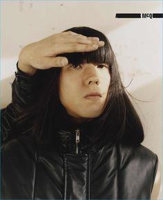 Yuki Tsujii of Bo Ningen for McQ's fall-winter 2016 campaign.