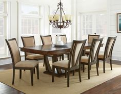 Gabrielle Rectangular/Square Table Dining Room Set | Steve Silver | Home Gallery Stores