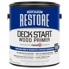 Rust oleum restore tintable restoration textured solid for Exterior wood water based primer