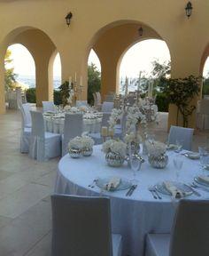 Beautiful wedding venue in Split, Croatia. A villa with private beach <3 Design: weddings-in-croatia.net