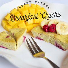 Berry Banana Breakfast Quiche   Whole 30- Healthy- Gluten Free- Paleo- dairy free- Vegan  www.travelmechic.com Paleo Dairy, Dairy Free, Gluten Free, Breakfast Quiche, Banana Breakfast, Great Recipes, Blueberry, Raspberry, Berries
