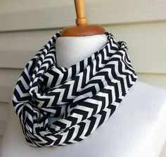 Chevron infinity scarf Snood scarf Zig Zag by SmilingKnitting