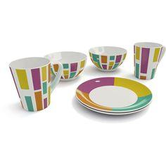 Jogo de Porcelana Color 6 Peças - Coza -Utilidades domésticas - Até 20 peças - Walmart.com