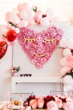 Korallenrot Valentinstag von Meri Meri Hochzeit Herzkissen aus Samt ideal f/ür das Kinderzimmer