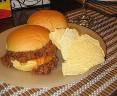 Completely & totally the best Sloppy Joe Ever! I will never ever use the nasty can again. Beef Dishes, Food Dishes, Main Dishes, Hamburger Dishes, Hamburger Ideas, Side Dishes, Meat Recipes, Cooking Recipes, Kitchen