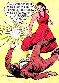 Handling harassment, (from PLANET COMICS) retro vintage comic book pop art Vintage Pop Art, Vintage Comic Books, Vintage Comics, Comic Books Art, Comic Art, Book Art, Retro Vintage, Planet Comics, Bd Comics