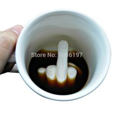 Porcelain and Ceramic Fuck Mugs and Cups Creative gift Mug up yours mugs submerged swearing tea cups 1pc/lot