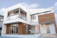 ウッドデッキと地下室のあるデザイン住宅:彦根市|住宅施工事例一覧|滋賀の新築・注文住宅