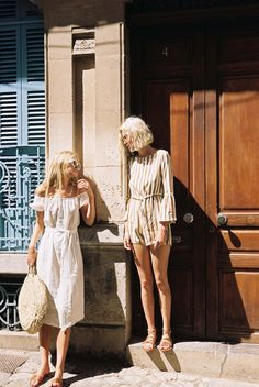 mode printemps été ☼ robe et combinaison short (street fashion spring summer)