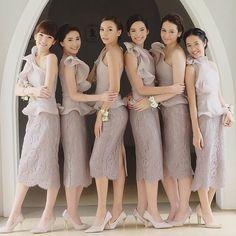 51 Trendy Ideas For Party Fashion Style Brides Dress Brokat, Kebaya Dress, Lovely Dresses, Simple Dresses, Short Bridesmaid Dresses, Wedding Dresses, Bridesmaids, Kebaya Wedding, High Street Fashion