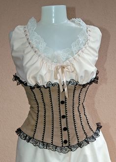 Victorian top and corset