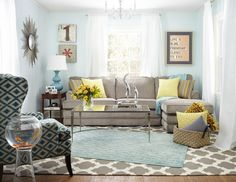 "Turn an Unused Living Room into a Bright and Colorful Mom Cave! (Valspar ""Stillness"")"