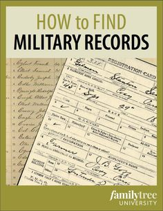 How to Find Your Ancestor's US Military Records - Family Tree Source by familytreemag Look style Free Genealogy Sites, Genealogy Research, Family Genealogy, Free Genealogy Records, Genealogy Forms, Ancestry Records, Genealogy Humor, Genealogy Chart, Find Your Ancestors