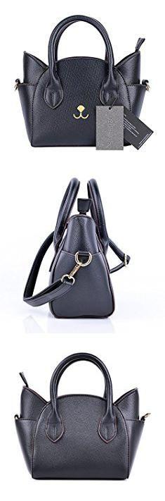 9671501cc8bd Cat Bags. QZUnique Women s Summer Fashion Top Handle Cute Cat Cross Body  Shoulder Bag Black.  cat  bags  catbags. Jordyn lamrche · Purses ...