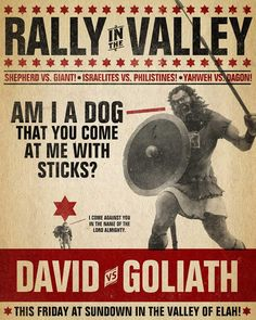 Bible inspired poster, David and Goliath Bible Art, Bible Verses, Scriptures, Scripture Mastery, Scripture Journal, Scripture Reading, 5 Solas, David And Goliath, Sermon Series