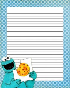 Note Paper Printable Lables, Printable Lined Paper, Free Printable Stationery, Lined Writing Paper, Writing Papers, Papel Scrapbook, Scrapbook Journal, Cookie Monster Party, Digital Paper Free