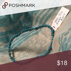 Tia anklet Beautiful aqua beaded anklet Premier Designs Jewelry