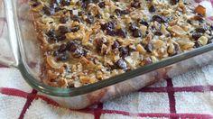 Magic Cookie Bars - low carb, gluten/grain/sugar free, THM S