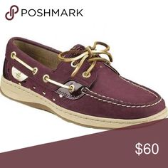 Sperry Top Sider burgundy and gold Boat Shoe It's very comfortable. And easy to match. A little bit thicker than traditional sperry shoes. This makes it a shoe you can wear whenever, where ever. Take it if you like. (Ps: also available for child's 3) Sperry Top-Sider Shoes Sneakers