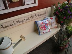 repurpose a church pew bench