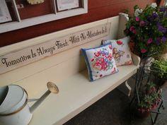 repurpose a church pew bench