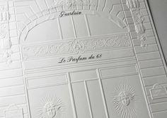 POS Advertising for Guerlain Classic Wedding Invitations, Event Invitations, Wedding Card, Wedding Stationery, Invitation Cards, Classic Fonts, Identity Design, Visual Identity, Brand Identity