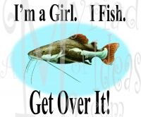 Red Tailed Catfish #RG-43 from Reel Girls inspired by Mary.   Fun tees for gals who fish and the men who appreciate them!