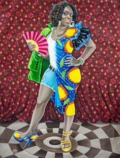 Maman Africa, 2014, acrylic on fabric, 149 x 109 cm. Sold