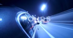 Driving on a night city street. Blurred motion time lapse. - Stock Footage   by MaxRyazanov