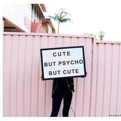 Same!  . . . . . . #retro #cute #cutebutpsycho #pink #grungefashion #geungephotography #quotes