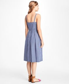 2c583a15b66 Gingham Cotton Poplin Dress - Brooks Brothers
