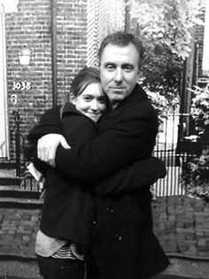 Dr. Cal Lightman (Tim Roth) with his daughter, Emily Lightman (Hayley McFarland). #LieToMe
